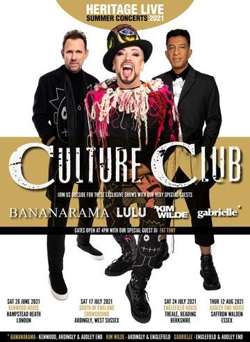 Heritage Live Summer 2021 with Culture Club, Kim Wilde, Bananarama, Lulu, Gabrielle